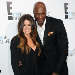 Lamar Odom with his wife Khloe Kardashian