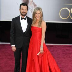 Jennifer Aniston with fiance Justin Theroux