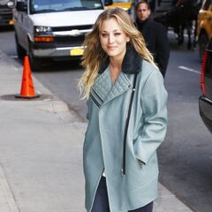 Kaley Cuoco leaving the 'Late Show with David Letterman'
