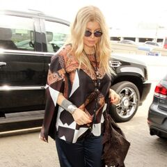 Fergie leaving LAX for Good Morning America