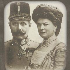 Archduke Franz  Ferdinand,  and wife Sophie