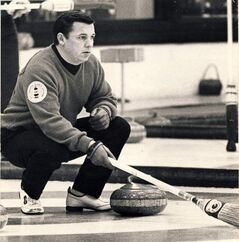 Don Duguid, seen here Dec. 31, 1971 will be inducted into the World Curling Hall of Fame.