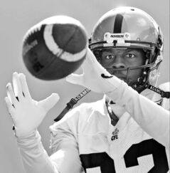Winnipeg receiver Terrence Edwards (above) says his public disagreement with teammate Justin Sorenson is nothing to worry about.