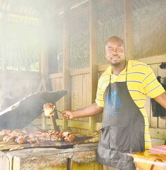 Jerk chicken is served up at Border.