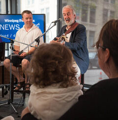 Fred Penner performed at the News Café Monday afternoon.