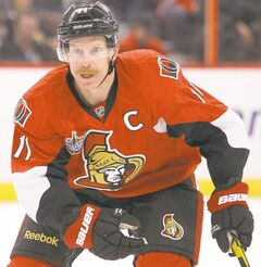 Daniel Alfredsson of the Ottawa Senators