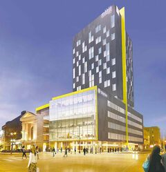 Longboat Development Corporation's Alt hotel across from the MTS Centre is under construction. (Artist's rendering)