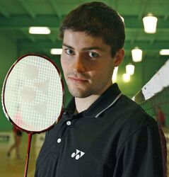 Canadian and local badminton player David Snider.