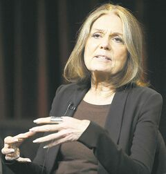 FILE - In this Jan. 15, 2011 photo, Gloria Steinem attends the PBS Winter TCA Tour at the Langham Huntington Hotel in Pasadena, Calif.