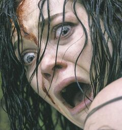 Something wrong? Use your words!: Jane Levy in Evil Dead.