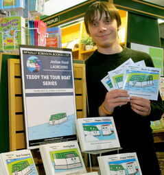 Joshua Hood, 14, held a series book launch at McNally Robinson Booksellers April 14.