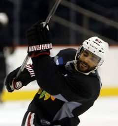 Some claim former Jets D-man Johnny Oduya was moonlighting for Domino's during his time in Winnipeg.