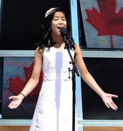 Maria Aragon, an 11-year-old Winnipeg girl whose rendition of Lady Gaga's