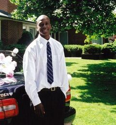 Eric Osawe is shown in a family handout photo. A Toronto police officer is facing a charge of second-degree murder in what's being called a first in the history of the force.Const. David Cavanagh was originally charged with manslaughter in the shooting death of Osawe, 26, in September 2010. It was upgraded Thursday at a court appearance from the original charge.THE CANADIAN PRESS/HO