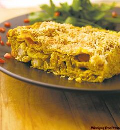 Curried chicken lasagna