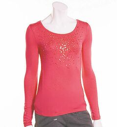 You don�t need head-to-toe sequins to impress: a bedazzled top or cardigan will do the trick.