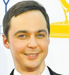 Actor Jim Parsons arrives at the 64th Primetime Emmy Awards at the Nokia Theatre on Sunday, Sept. 23, 2012, in Los Angeles. (Photo by Jordan Strauss/Invision/AP)