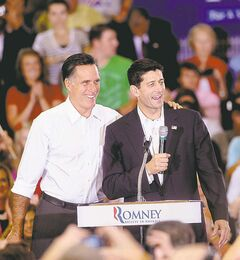 Mitt Romney (left) and Paul Ryan.