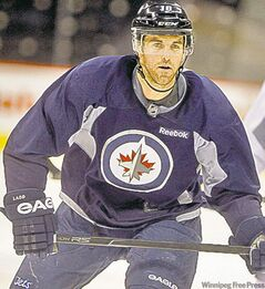 Jets' captain Andrew Ladd: 'hurry, hurry haaarrddd!'