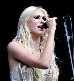 U.S singer Taylor Momsen of The Pretty Reckless