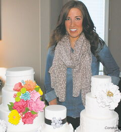 Kayla Milligan sketches every cake she makes and every one of her confectioneries is customized.