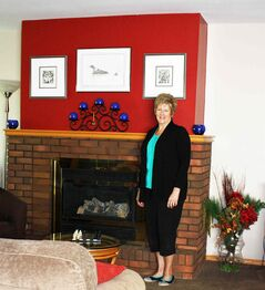 Home staging professional Barbara Gudmundson shows an example of a fresh look.