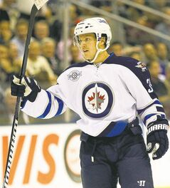 Winnipeg Jets defenceman Tobias Enstrom