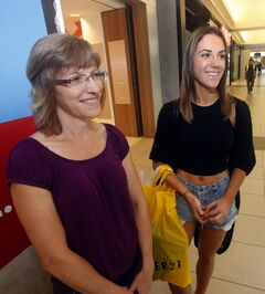 Marni Baltessen and Samantha Taylor, 20 are back to school shopping.