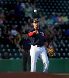 Goldeyes third baseman Jake Blackwood had a big game Sunday in Sioux Falls, going 3-for-6 with a pair of homers. And he wasn't even the hottest Fish at the dish.