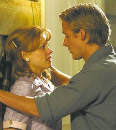 Rachel McAdams (Allie) and Ryan Gosling (Noah) star in Nick Cassavetes� The Notebook.