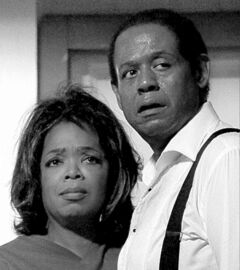 FILE - This undated file film image provided by The Weinstein Company shows Oprah Winfrey as Gloria Gaines, left, and Forest Whitaker as Cecil Gaines in a scene from