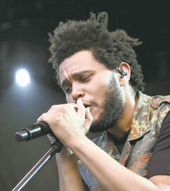 Trippy R&B vocalist The Weeknd was also at the Juno's non-televised awards in Regina.
