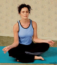 Setting your 'intention' at a yoga class reminds you to be in the moment and not worried about results.