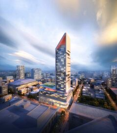 An artist's rendering of SkyCity Centre.