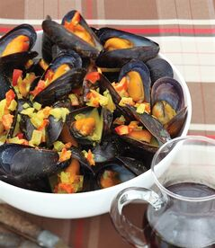 Canadian Curried Mussels are shown in this undated handout photo. THE CANADIAN PRESS/HO-Whitecap Books-Perry Jackson