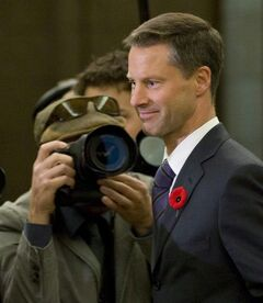 Nigel Wright, chief of staff for Prime Minister Stephen Harper, appears as a witness at the Standing Committee on Access to Information, Privacy and Ethics on Parliament Hill in Ottawa, Tuesday, Nov.2, 2010. Conservatives - including the Speaker of the House of Commons - have been feting Wright as Harper's former chief of staff leaves behind Ottawa and a brutal year to return to the private sector.THE CANADIAN PRESS/Adrian Wyld