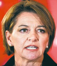Martha Hall Findlay announces that she will be a candidate in the federal Liberal leadership race during a press conference in Calgary, Alberta on Wednesday, Nov. 14, 2012. THE CANADIAN PRESS/Larry MacDougal