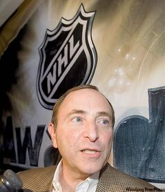 NHL commissioner Gary Bettman will move the Coyotes if his hand is forced.