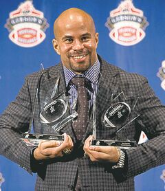 Jon Cornish added to his CFL awards Monday when he was named the Lou Marsh award winner for 2013.