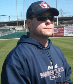 Winnipeg Goldeyes rookie pitcher Barry Fowler was released.