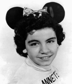 This 1955 photo provided by Walt Disney Co. shows Annette Funicello as a Mouseketeer on Walt Disney's TV series the Mickey Mouse Club.
