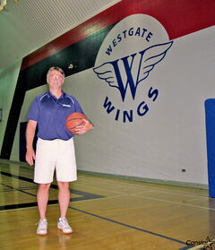 Karl Wiebe has spent countless hours over the last 27 years in the gym at Westgate Mennonite Collegiate.