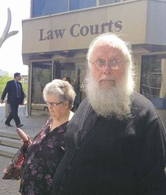 Seraphim (Kenneth) Storheim leaves court in Winnipeg in this file photo. He plans to appeal his conviction and sentence.