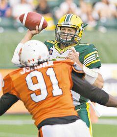 Eskimos QB Mike Reilly absorbed some heavy punishment and many losses in 2013, but has rebounded superbly in 2014.