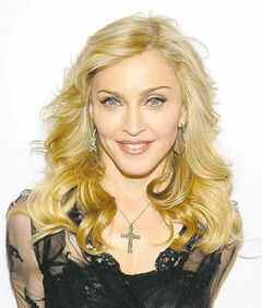 Singer Madonna arrives at Macy's Herald Square to launch her new fragrance Truth or Dare By Madonna on April 12 in New York.