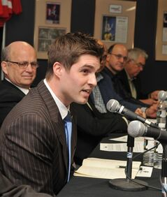 Kyle Dubas is shown in a handout photo. Brendan Shanahan made his first significant front-office move as Toronto Maple Leafs president on Tuesday by hiring Dubas as assistant general manager. THE CANADIAN PRESS/HO-Soo-Greyhounds-James Egan Photography