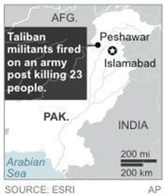 Map locates Peshwar, Pakistan