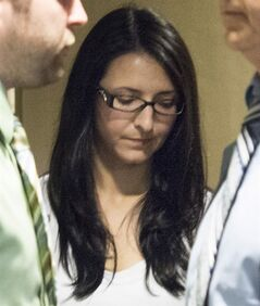 Emma Czornobaj is pictured at the Montreal Courthouse in Montreal, Tuesday, June 3, 2014. THE CANADIAN PRESS/Graham Hughes