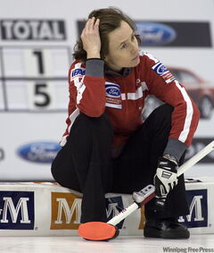 Team Switzerland skip Mirjam Ott.