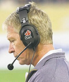 Winnipeg Blue Bomber head coach Tim Burke